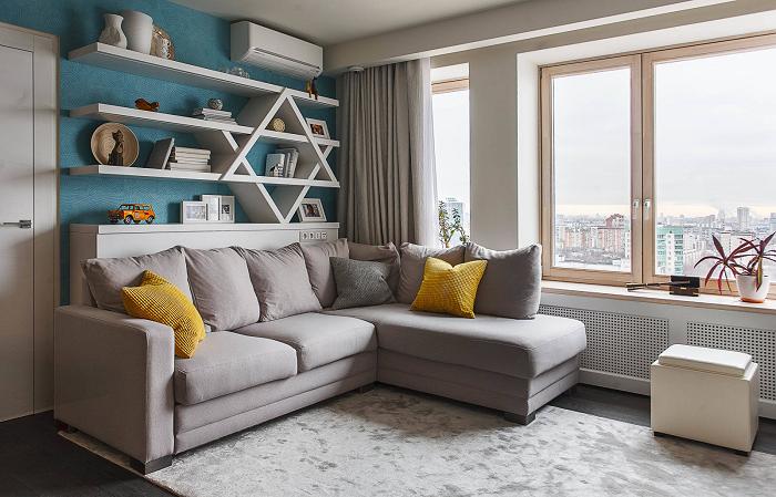Стильный и эргономичный предмет интерьера, которые идеально подходит для небольшого помещения.