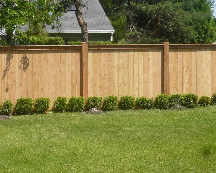 Забор, который выполняет защитную и декоративную функцию.