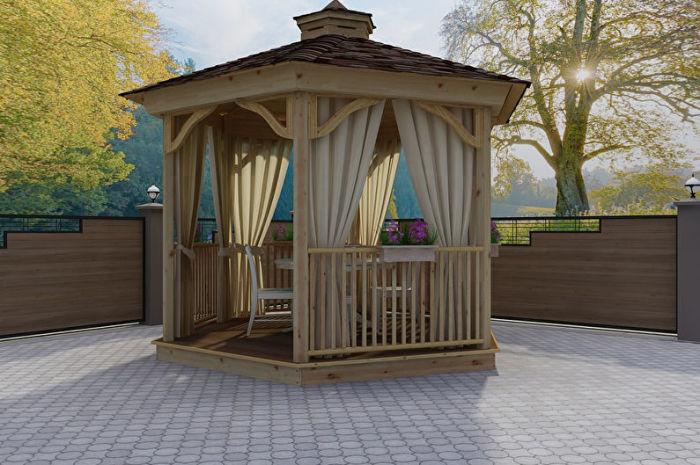 Отличный вариант садовой беседки для дачного участка и придомовой территории своими руками.