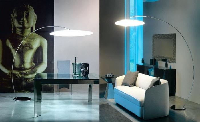 Дизайнерские торшеры в минималистическом стиле, которые предназначены для украшения и освещения.