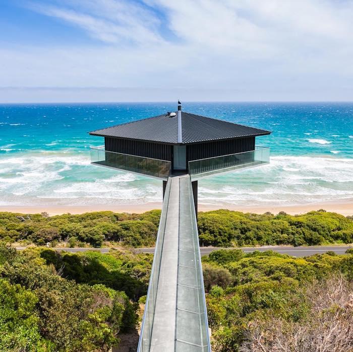 Необыкновенный «плавающий» дом, который буквально парит над побережьем Южной Австралии.