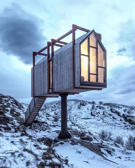 Необычный отель расположен на арктическом архипелаге Фленвайр, Норвегия.