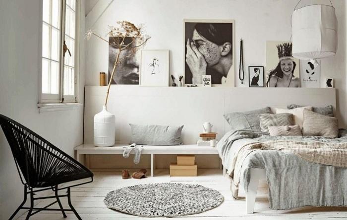 Сочетание светлых и тёмных оттенков в интерьере спальной комнаты – выигрышное и современное решение.
