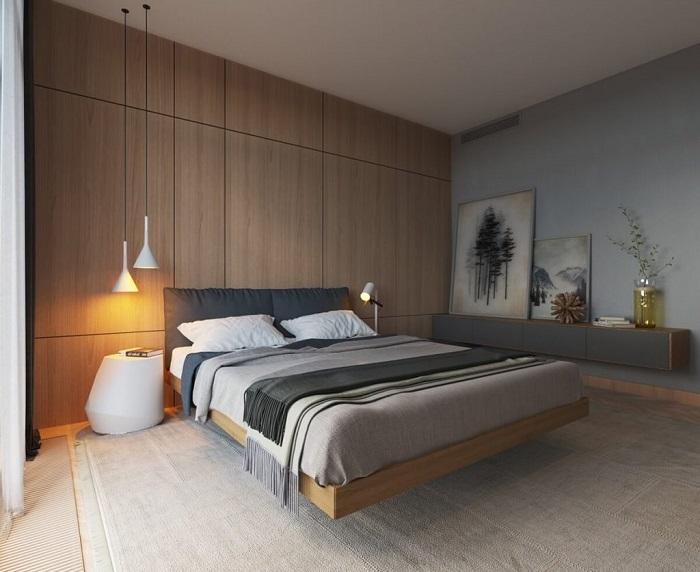 Гармоничная и функциональная спальная комната для людей, нуждающихся в спокойной атмосфере.