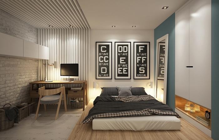 Спальная комната с чарующим интерьером.