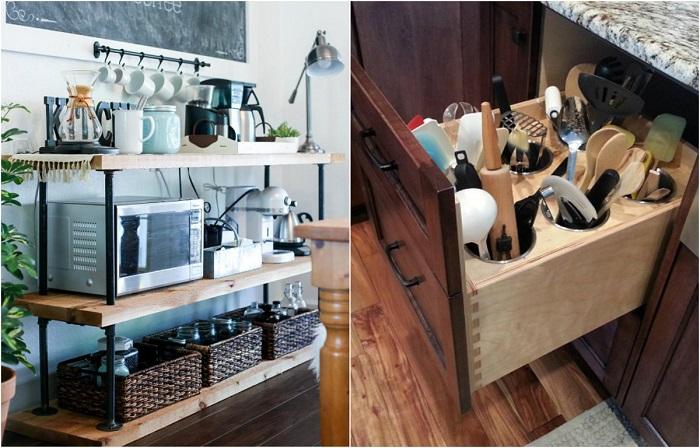 Современные системы хранения для кухни.