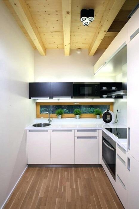 Современные дизайнерские решения позволяют организовать функциональное пространство даже на небольшой кухне.
