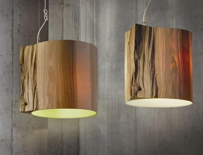 Массивные деревянные люстры из экологичного и безвредного материала.