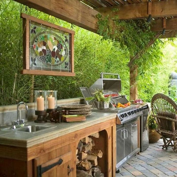 Летняя кухня в экологическом стиле – идеальное решение для тех, кто неравнодушен к проблемам экологии.