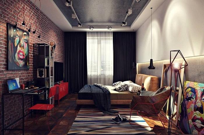 Лофт в интерьере спальни поможет окунуться в атмосферу 1940-х годов, когда только зарождался «чердачный» стиль.