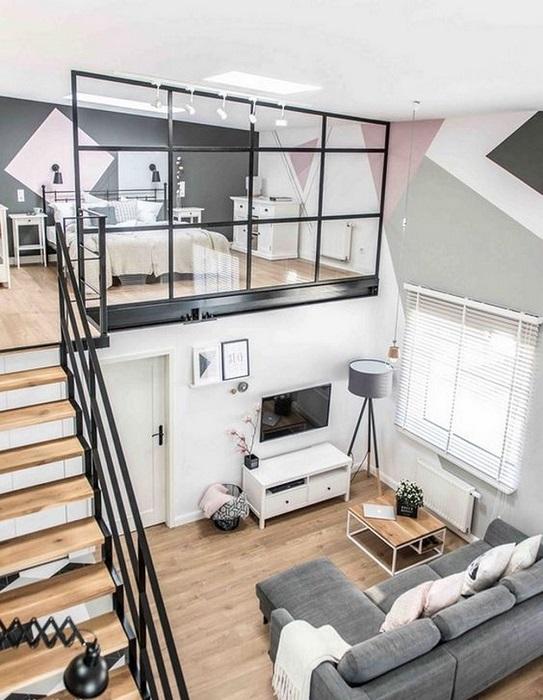 Спальная комната на втором этаже, которая поможет создать идеальное место для отдыха, спокойствия и умиротворения.