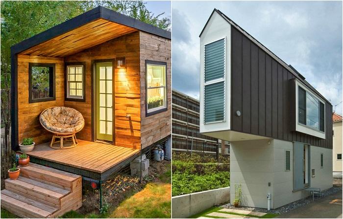 Мини-дома необычной формы, о которых можно только мечтать.