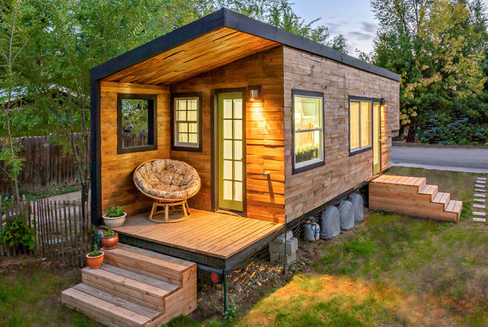 Маленький деревянный домик, в котором хотел бы жить каждый.