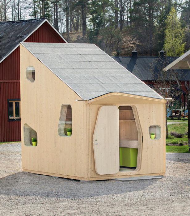Эргономичный и стильный мини-домик, который станет идеальным решением для временного проживания.