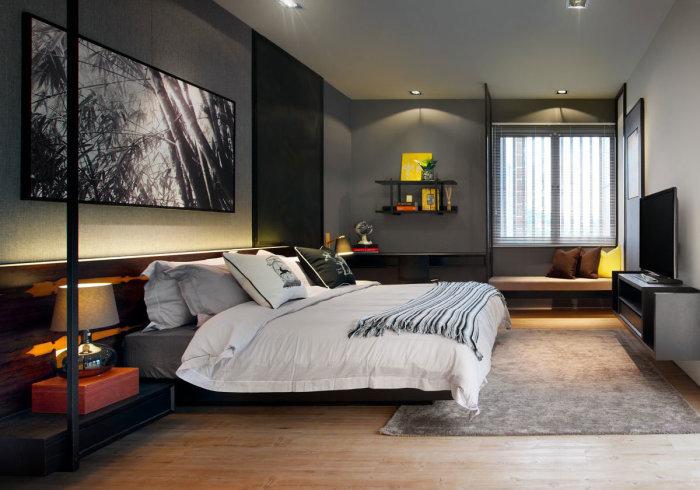 На сегодняшний день существует множество вариаций интересного дизайна спальной комнаты.