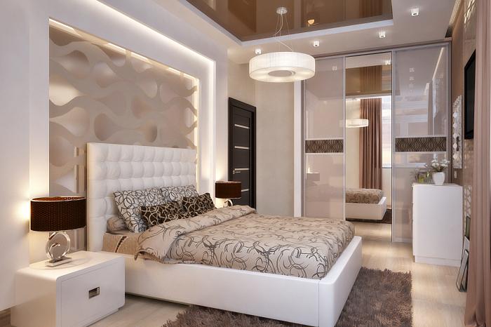 Классическая спальная комната в современной интерпретации.