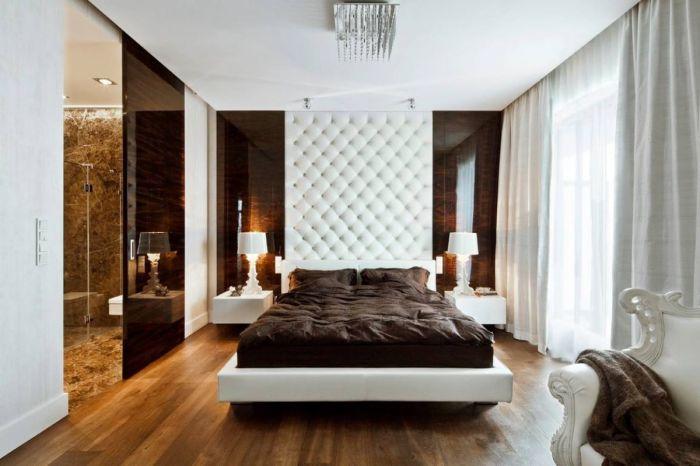 Традиционные приёмы и новые веяния в современном интерьере спальной комнаты.