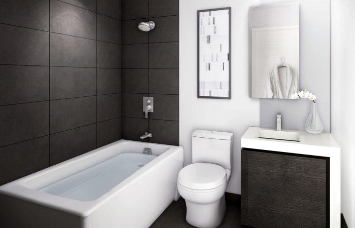 Смелый и современный проект малогабаритной ванной комнаты, который поможет создать по-настоящему уникальное помещение.