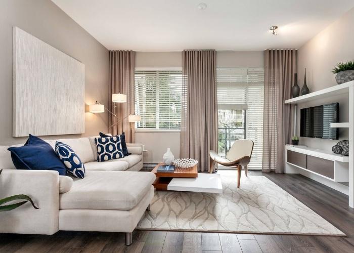 Декорирование гостиной в пастельных тонах -отличный вариант для оформления комнате для приёма гостей.
