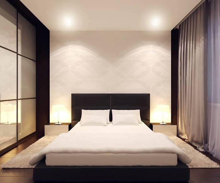 Пример гармоничной спальни в минималистском стиле для людей, нуждающихся в спокойной атмосфере.