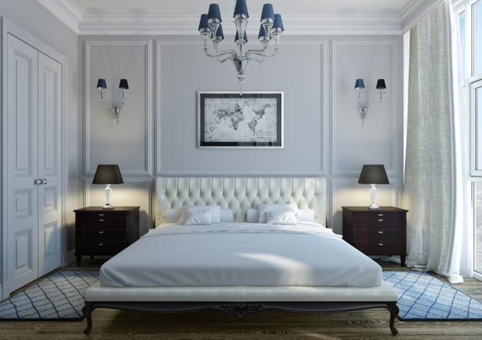 Спальня в традиционном аристократическом стиле, которая является отражением безупречного вкуса, роскоши и комфорта.