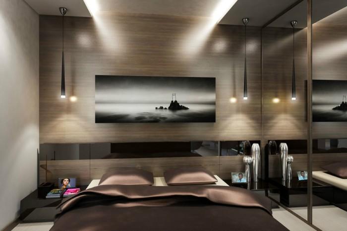 Спальня в стиле хай-тек станет идеальным местом для отдыха, в котором нет ничего лишнего.