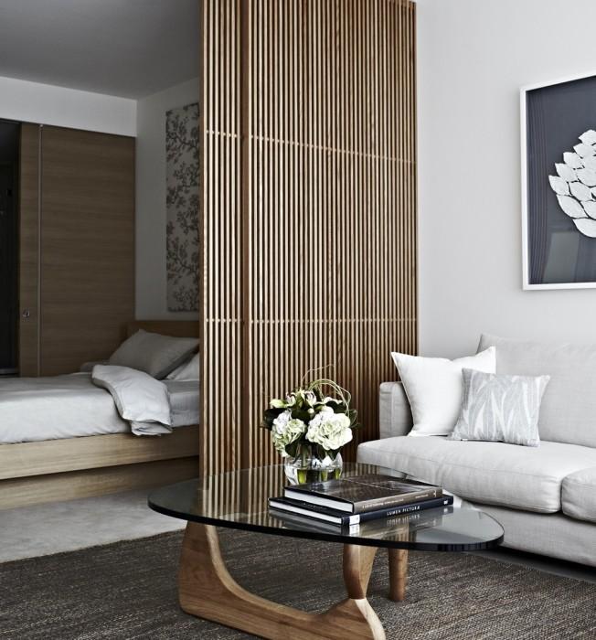 Деревянная перегородка, которая станет неотъемлемой частью современного интерьера.