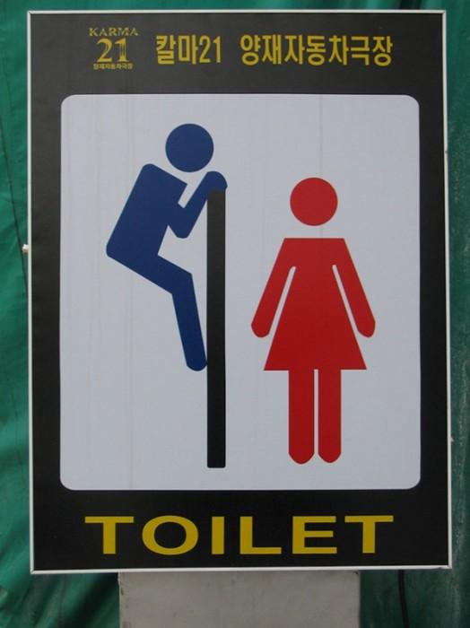 Туалетная комната - это огромное поле для творческой фантазии.