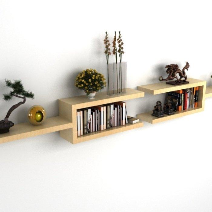 Отличный пример того, как с помощью деревянных полок можно быстро и легко вдохнуть новую жизнь в привычный интерьер.