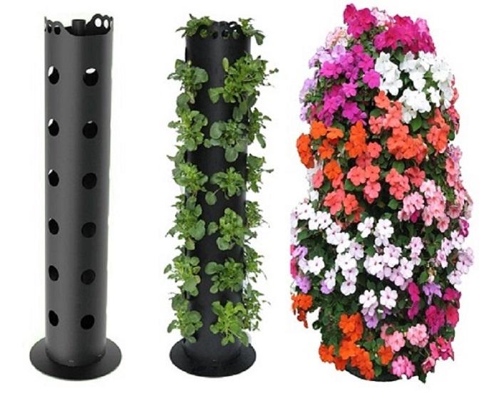 Вертикальная клумба из петуний, которая понравится, как заядлым садоводам, так и любителям.