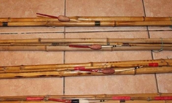 Распространённые в СССР удочки из бамбука.