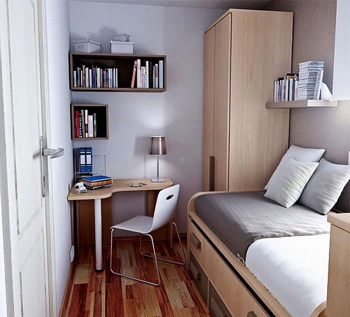 Оформление спальной комнаты в минималистском стиле предполагает серьезную работу по расстановке мебельного гарнитура.
