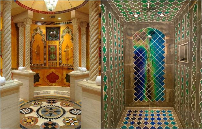 Стильные идеи, как оформить ванную комнату и летний душ в современном стиле.