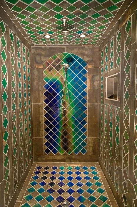 Римская и флорентийская мозаика в современном дизайне ванной комнаты.