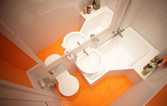 Большой популярностью пользуются классические варианты совмещения оранжевого и бежевого оттенка.