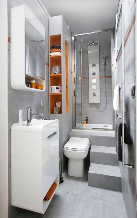 Классический серый оттенок в ванной комнате создаст изумительный фон для любых интерьерных экспериментов.