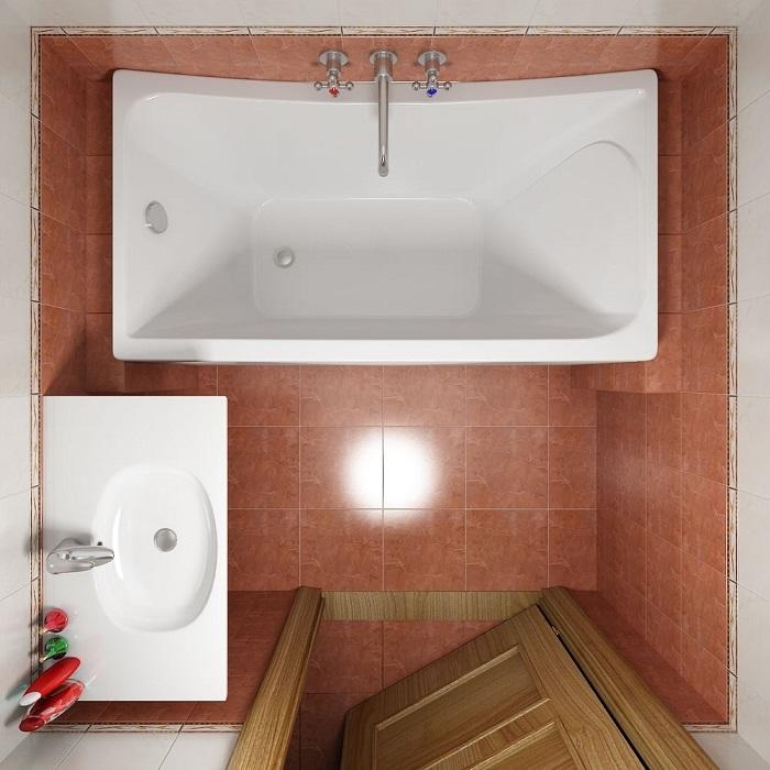 Для оформления небольшой ванной комнаты лучше всего использовать классические стилевые направления.