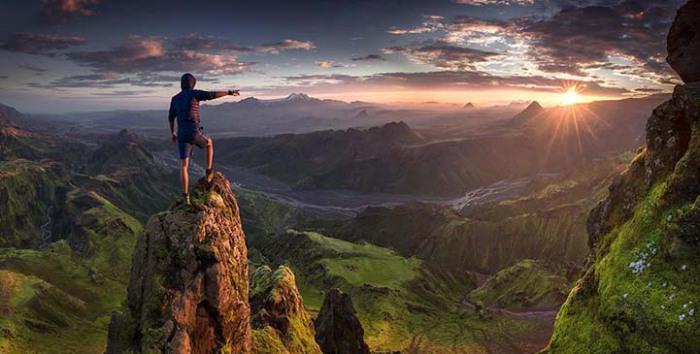 Захватывающие снимки с вершины горы.