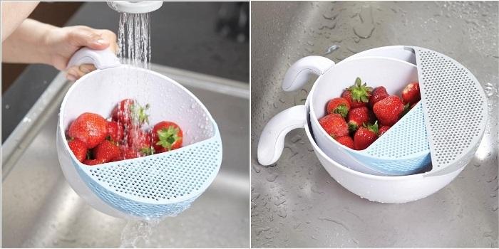 Чаша с сеткой для удобного мытья фруктов.