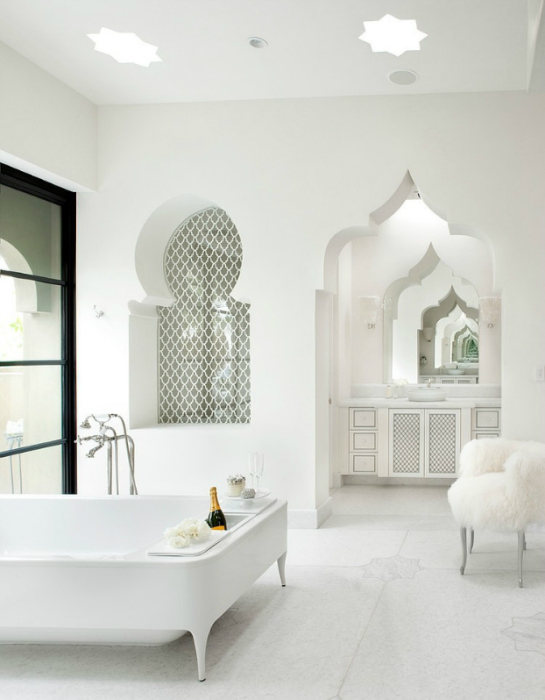 Фото дизайн белых штор