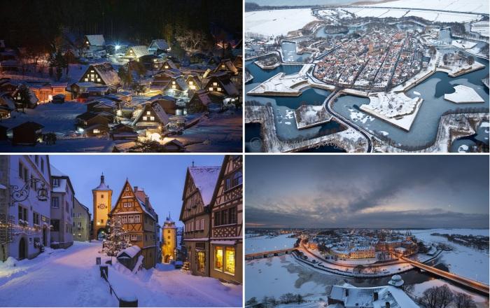 Сказочные зимние города.