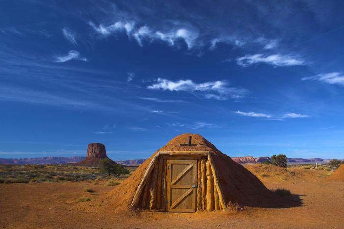Необычное жилище индейцев США.
