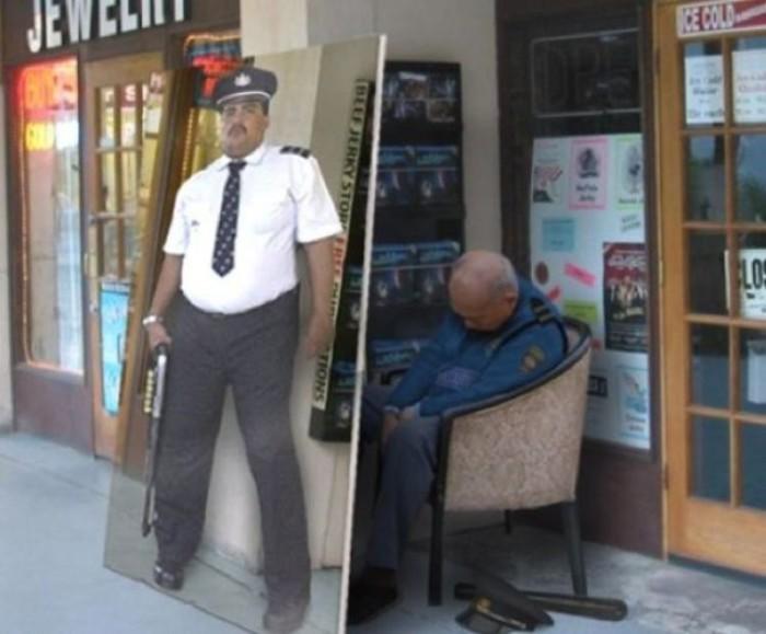 Самый ленивый и хитрый охранник.