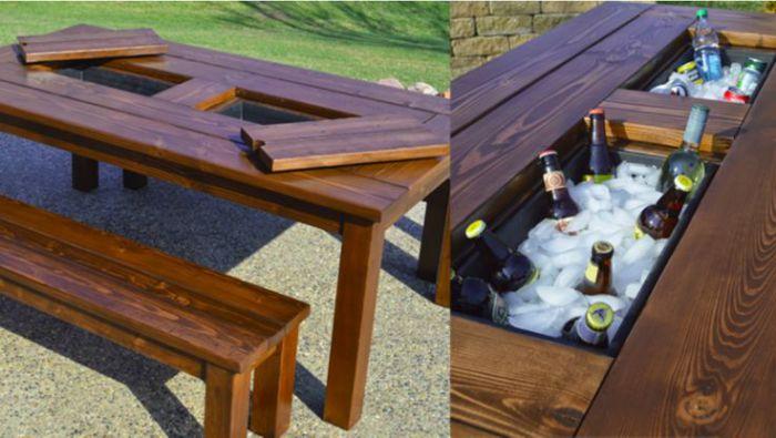 Замечательный вариант для любителей пикника в жаркий летний день.