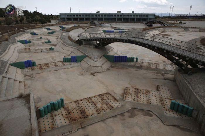 Первый в мире бассейн для состязаний, который был наполнен соленой водой.