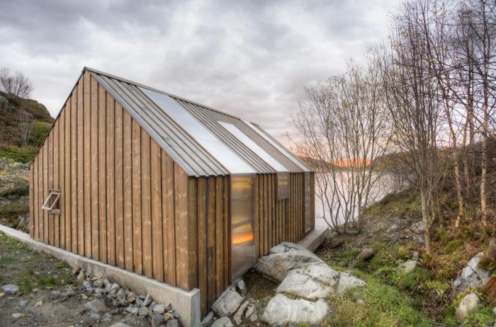 Прекрасный лодочный дом для летнего отдыха в Норвегии.