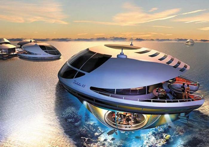 Удивительный дом, который способен спускаться под воду.