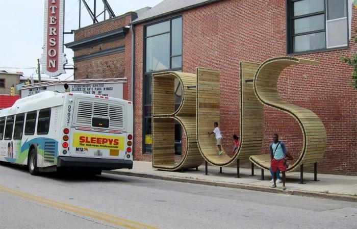 Автобусная остановка BUS.