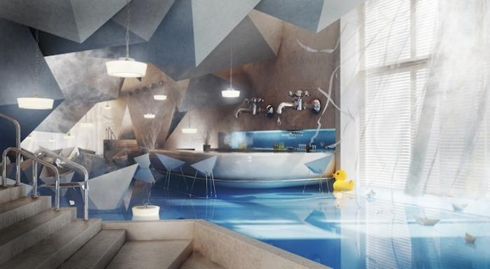 Сюрреалистическая ванная комната.