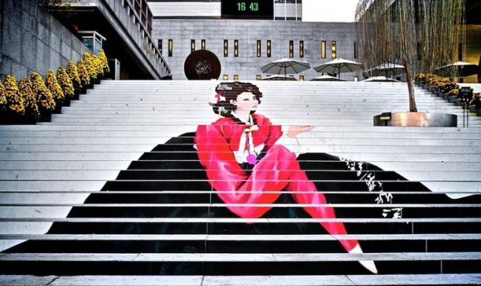 Лестница музыкального театра столицы Южной Кореи.